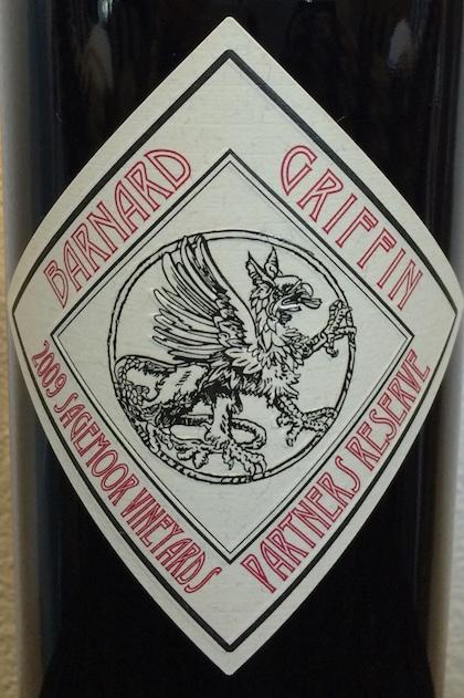 barnard-griffin-sagemoor-vineyards-partners-reserve-2009-label