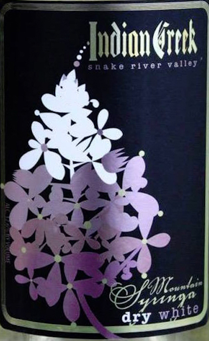 Indian Creek Winery Mountain Syringa label