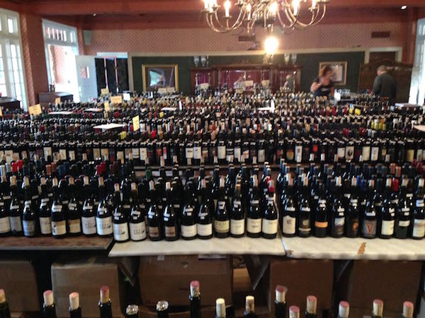 Thousands of bottles are lined up for the Great Northwest Invitational Wine Competition.
