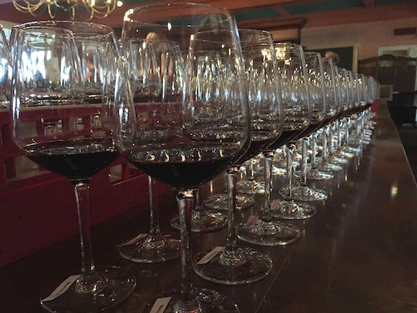Wines await judges at the 2015 Great Northwest Invitational Wine Competition.
