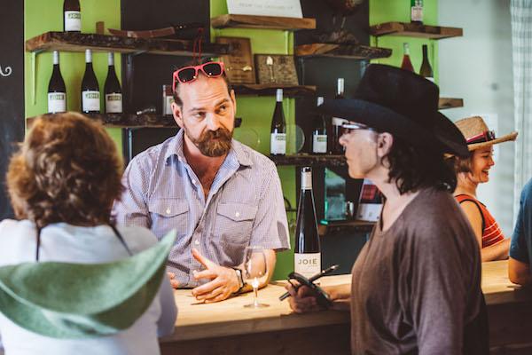 JoieFarm on the Okanagan Valley's Naramata Bench recently opened a tasting room.