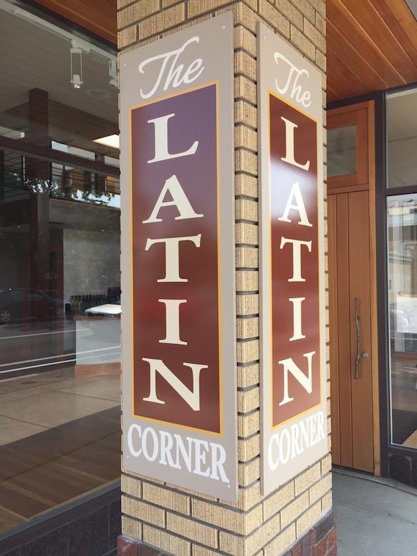 Doug McCrea and Gino Cuneo own the Latin Corner in downtown Walla Walla, Washington.