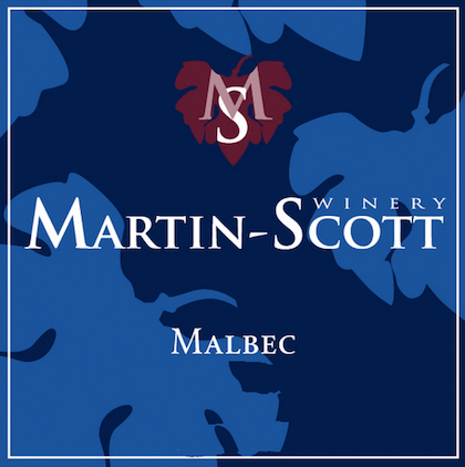 Martin-Scott Winery Malbec label