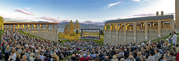 Mission Hill Family Estate's concert amphitheater.