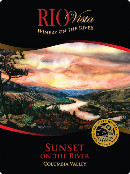 Rio Vista Wines Sunset on the River label