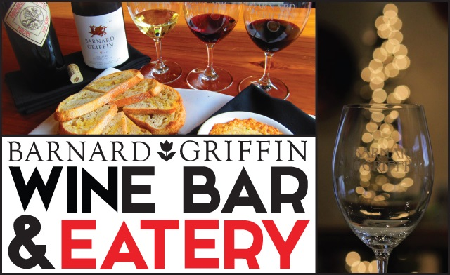 Barnard Griffin Wine Bar and Eatery poster gapes in glass
