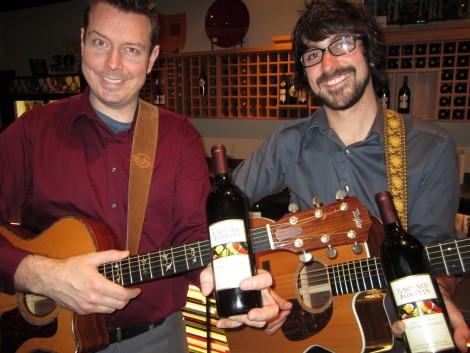 Knutzen Brothers with Barnard Griffin bottle