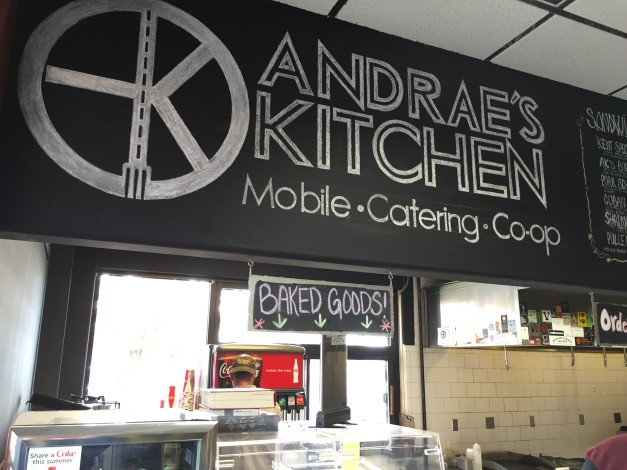 Andrae Bopp owns and operates Andrae's Kitchen in Walla Walla, Wash. The smoker is stationed at the Cenex Co-op, and he also caters wine events out of his food truck.