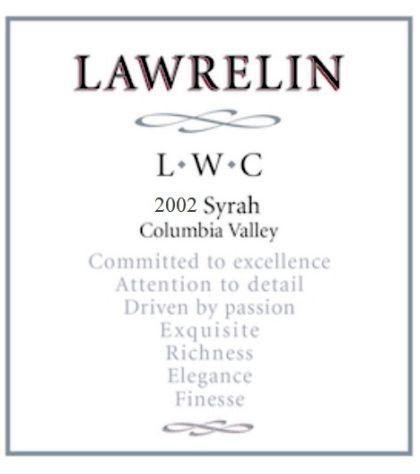 lawrelin-wine-co-syrah-2002-label