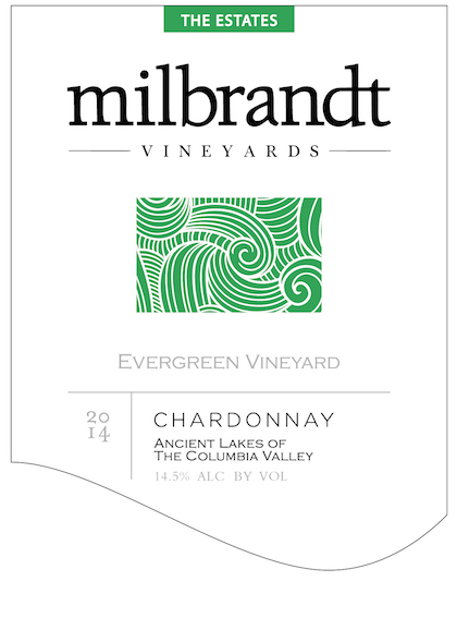 Milbrandt Vineyards 2014 The Estates Evergreen Vineyard Chardonnay