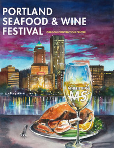 Portland Seafood and Wine Festival poster