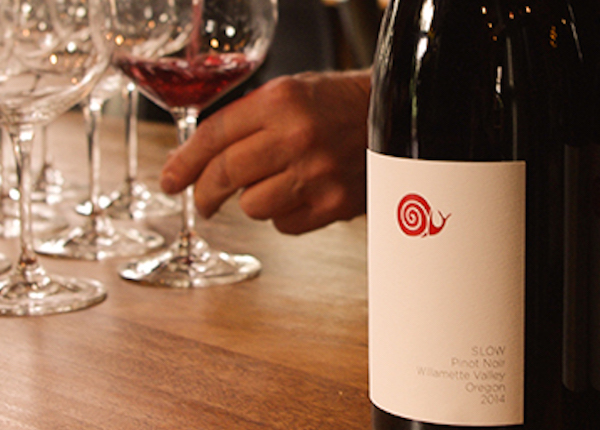 The 2014 Slow Pinot Noir is made in Oregon.