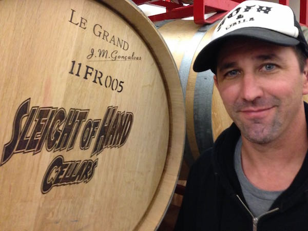 Trey Busch of Sleight of Hand Cellars in Walla Walla, Washington.