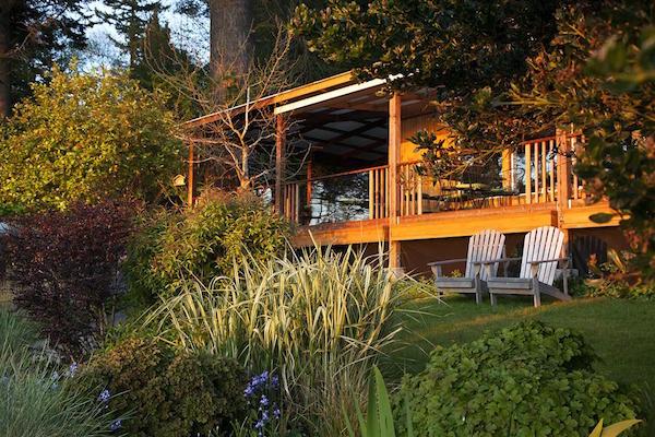 The Willows Inn is on Lummi Island near Bellingham, Washington.