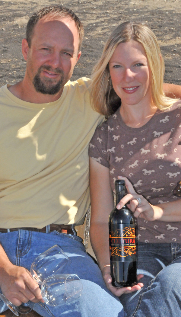 Tad Fewel and his wife, Sarah, own and operate Cultura Winery in Zillah, Wash.