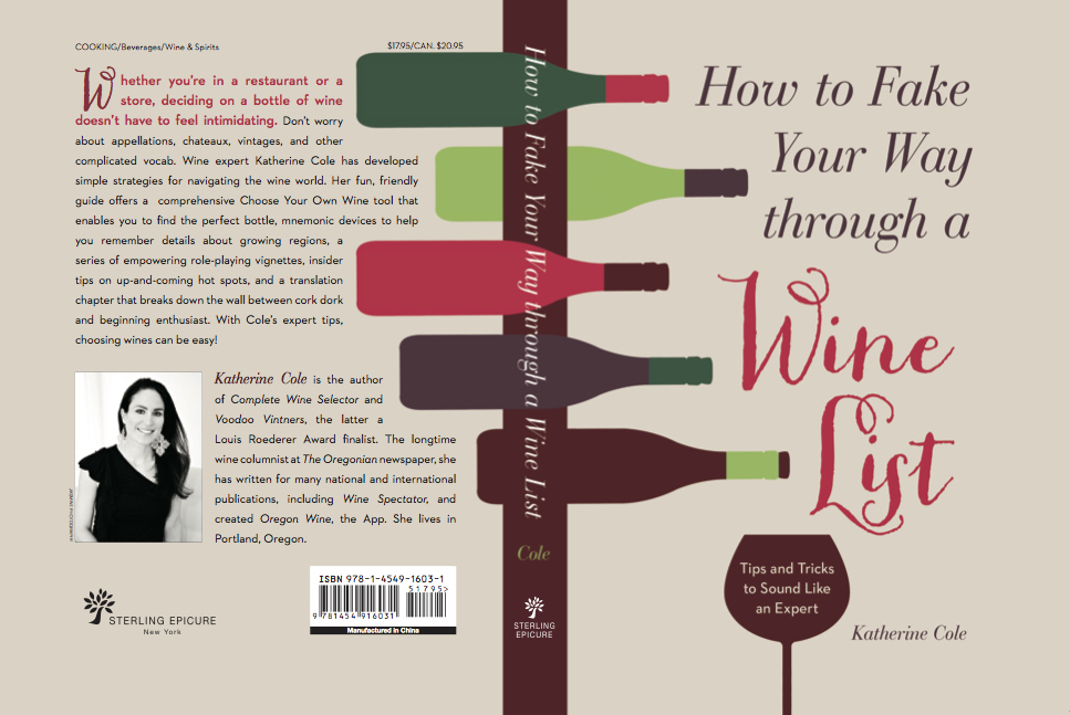 Wine lists can be intimidating, but Katherine Cole's new book helps ease the anxiety.