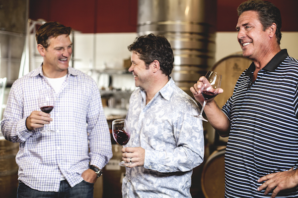 Passing Time winery is run by Damon Huard, Chris Peterson and Dan Marino.