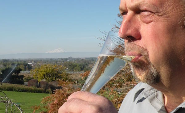 Juergen Grieb produces sparkling wine.