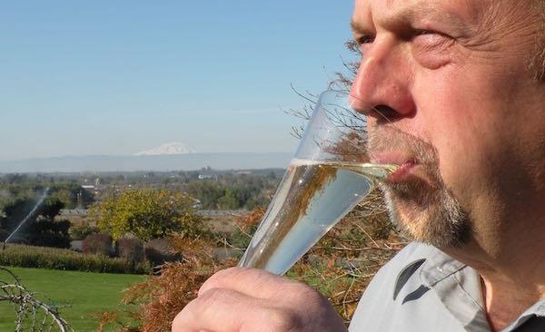 Juergen Grieb produces sparkling wine.