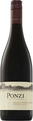 Ponzi Vineyards Tavola Pinot Noir bottl