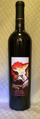 The Sleeping Dog 2008 Tail Wagger is a blend of Syrah and Cabernet Sauvignon that won best of class and Best of Columbia Valley at the 2015 Grand Harvest Awards wine competition in Santa Rosa, Calif. (Photo courtesy of Sleeping Dog Wines)