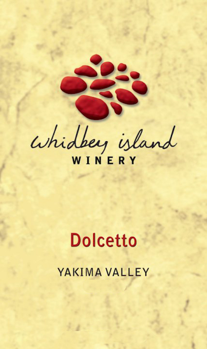 Whidbey Island Winery Dolcetto label