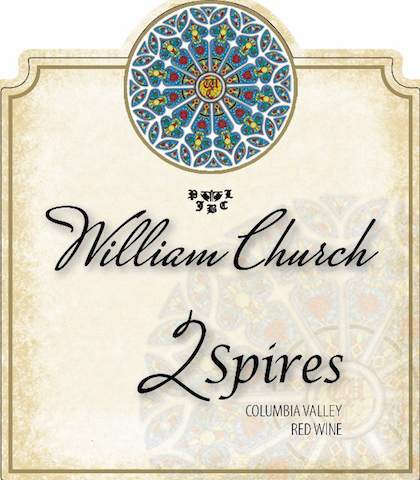William Church Winery 2Spires label