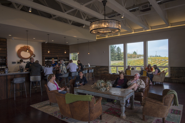 Brooks Wines opened its new tasting room in 2014 along Cherry Lane Road in Amity, Ore. (Photo by Andrea Johnson Photography/courtesy of Brooks Wines)