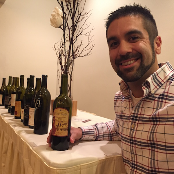 Chris Castillo, winemaker for Castillo de Feliciana Vineyards and Winery in Milton-Freewater, Ore., made the eight-hour-drive to attend the inaugural Oregon Tempranillo Alliance Celebration on Jan. 22, 2016. (Photo by Eric Degerman/Great Northwest Wine)