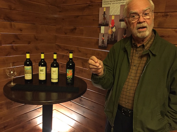 Earl Jones, founding winemaker and owner of Abacela in Roseburg, Ore., offers four expressions of Tempranillo at his Umpqua Valley tasting room. (Photo by Eric Degerman/Great Northwest Wine)