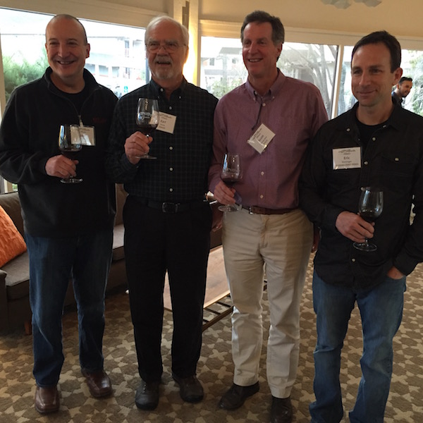 Les Martin of Red Lily Vineyards in Jacksonville, Earl Jones of Abacela in Roseburg, Scott Steingraber of Kriselle Cellars in White City and Eric Weisinger of Weisinger Family Winery in Ashland founded the Oregon Tempranillo Alliance in 2015. (Photo by Eric Degerman/Great Northwest Wine)