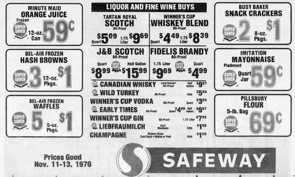 Safeway Fidelis brandy.