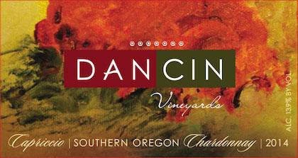 DANCIN Vineyards Capriccio Chardonnay Southern Oregon - DANCIN Vineyards 2014 Capriccio Chardonnay, Southern Oregon, $29