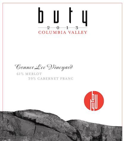 Buty 2013 Conner Lee Vineyard label