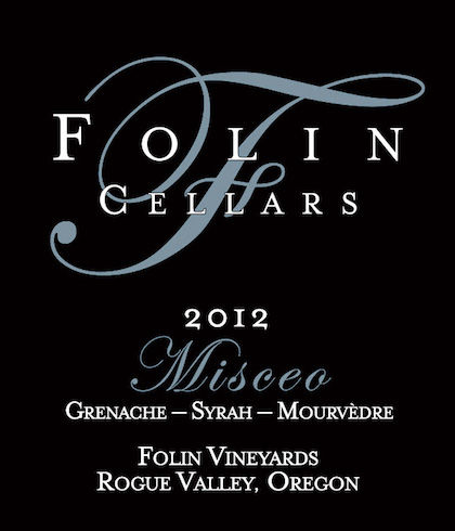 Folin Cellars 2012 Misceo label