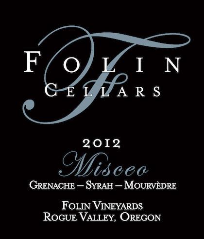 Folin Cellars 2012 Misceo label
