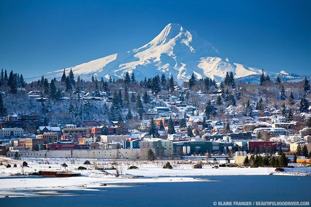 Mount Hood, the fourth-tallest peak in the Cascade Range at 11,249 feet elevation, looms over the town of Hood River, Ore. The scenery, climate and talented winemaking have turned the Columbia Gorge into one of the Pacific Northwest's premier destination for outdoors enthusiasts and wine lovers.