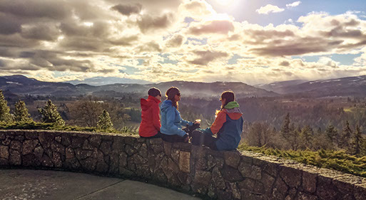 Panorama Point County Park, just a few minutes south of Hood River, Ore., makes the list on A Winter's Trail: Hood River as part of the new Columbia Wine Adventures recommendations by Travel Oregon and the Columbia Gorge Winegrowers Association.