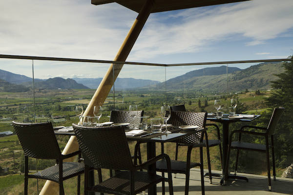 Miradoro is the restaurant at Tinhorn Creek Vineyards.