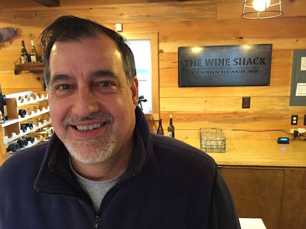 The Wine Shack is in Cannon Beach, Oregon. Steven Sinkler is the owner.