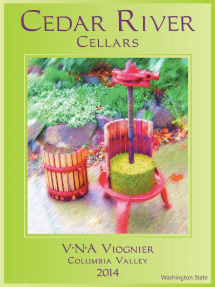 Cedar River Cellars 2014 V•N•A Viognier label