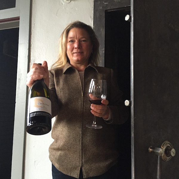 Oregon winemaker Linda Donovan's second-story office inside Medford's historic Cooley-Neff Building features a safe from the early 1900s.