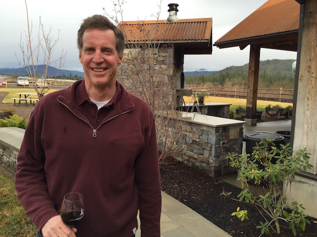 Scott Steingraber built a wood-fired oven and brings in a cook to prepare pizza as a complementary attraction for Kriselle Cellars in the Rogue Valley town of White City, Ore.