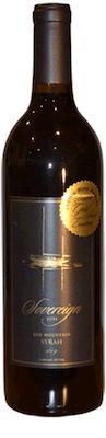 sovereign cellars syrah bottle - Sovereign Cellars 2015 Syrah, Red Mountain, $35