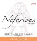 Nefarious Cellars-Defiance Vineyard Viognier-Lake Chelan-2014-Label