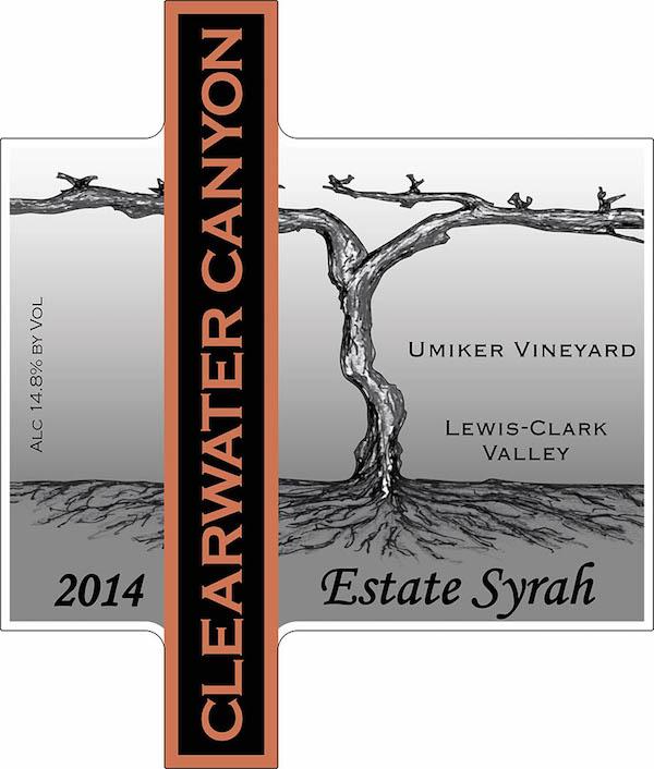 Clearwater Canyon Cellars 2014 Umiker Vineyard Syrah label