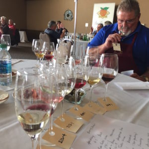 Gary Eberle, who helped pioneer the Paso Robles wine industry in California, judges the sweepstakes at the 2016 Pacific Rim International Wine Competition.