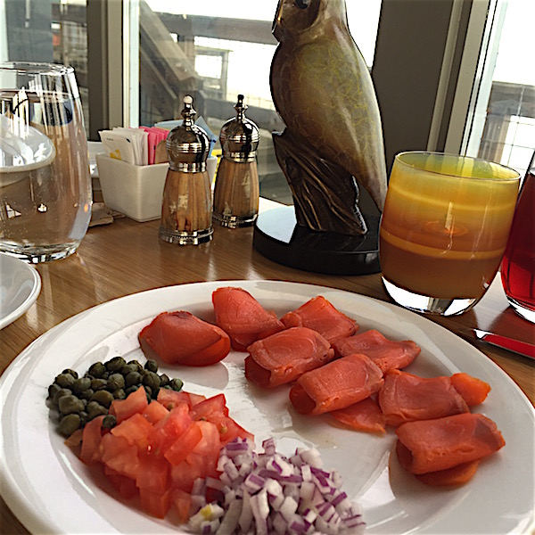 Smoked salmon and capers are a regular breakfast offering in the Pierside Kitchen at Semiahmoo Resort, Golf and Spa near Blaine, Wash.