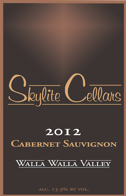 Skylite Cellars 2012 Cabernet Sauvignon label