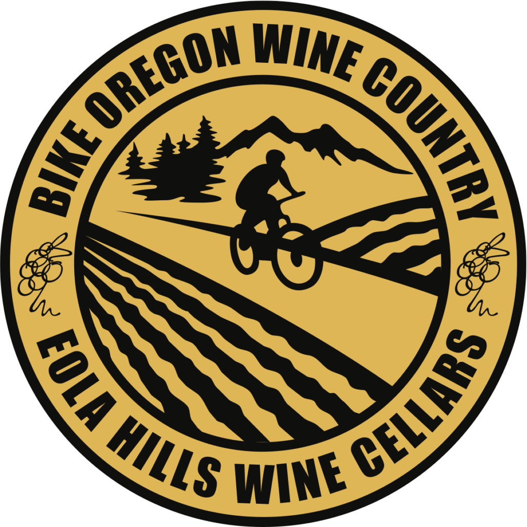 Bike-Oregon-Wine-Country-Eola-Hills-Circle-logo-black-yellow